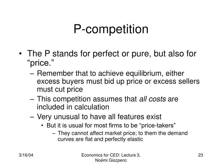 P-competition