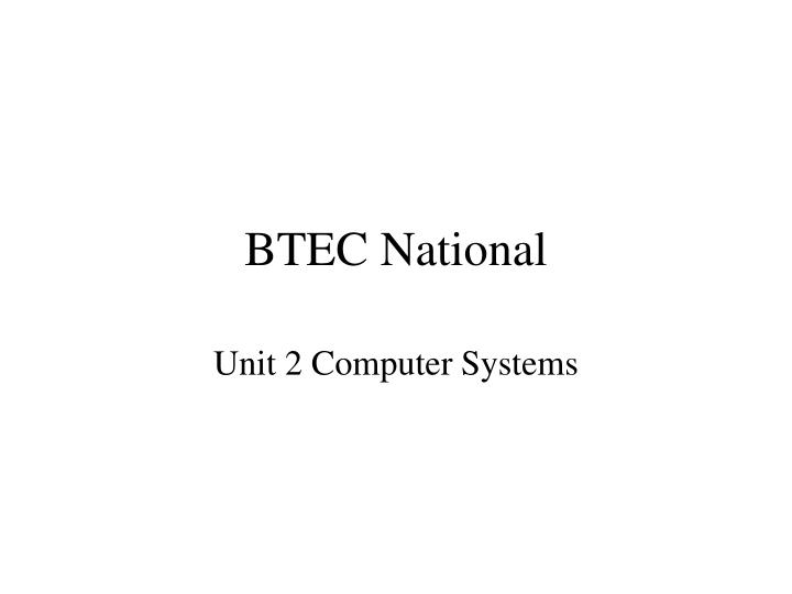 BTEC National
