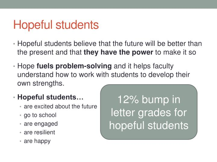 Hopeful students