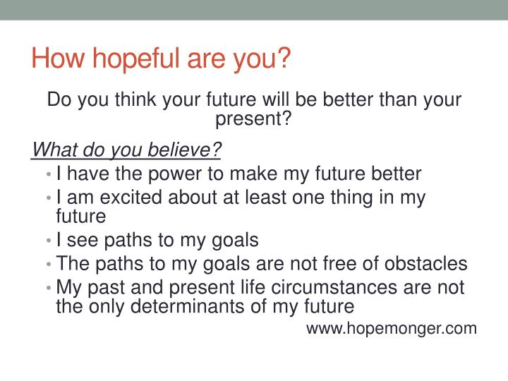 How hopeful are you?