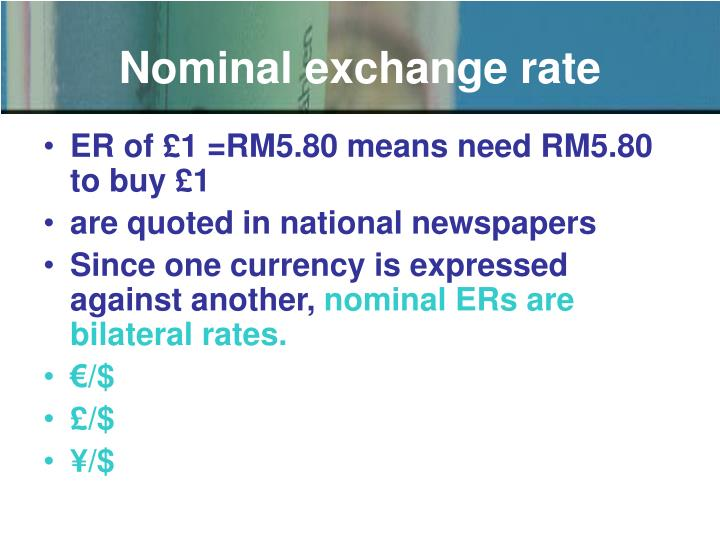 Nominal exchange rate