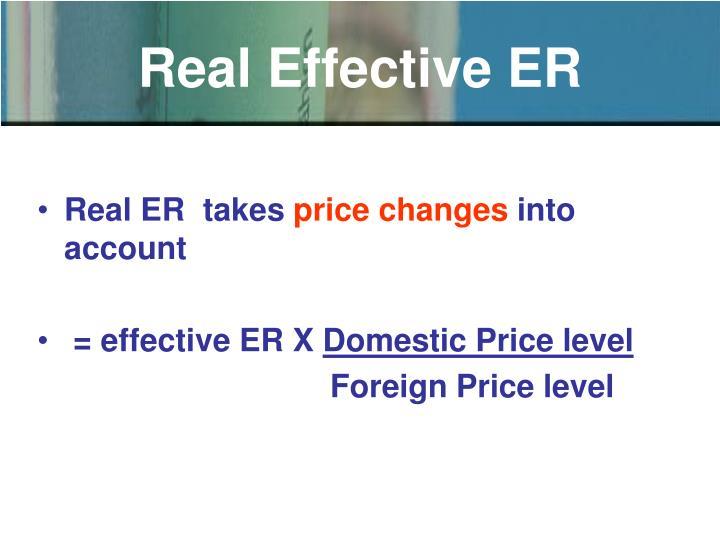 Real Effective ER