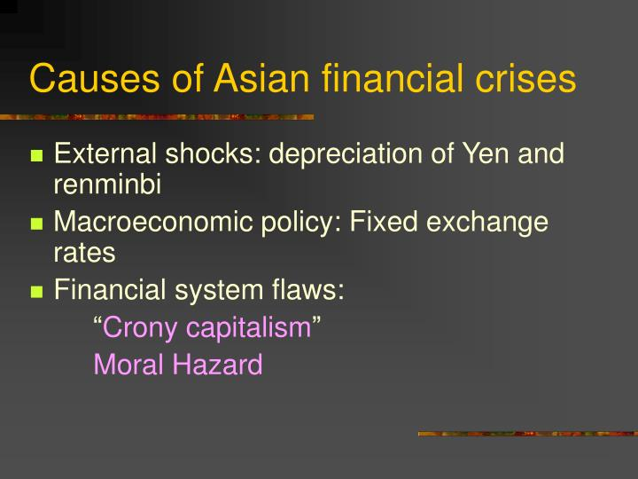 Causes of Asian financial crises