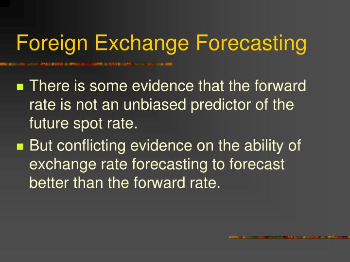 Foreign Exchange Forecasting