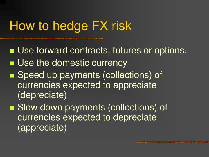 How to hedge fx risk