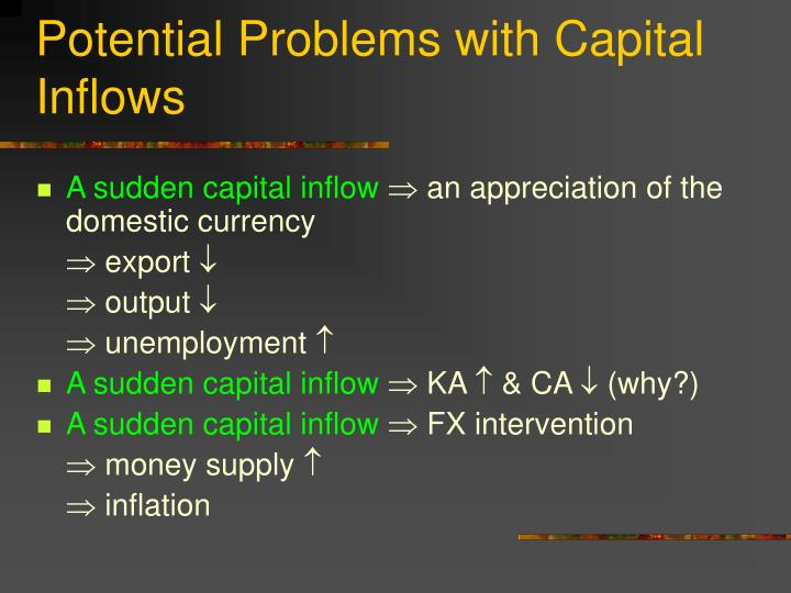 Potential Problems with Capital Inflows