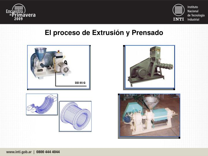 El proceso de Extrusión y Prensado