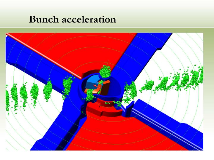 Bunch acceleration