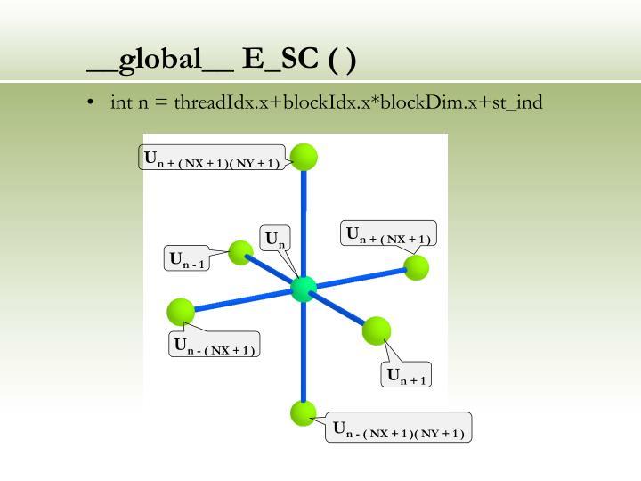 __global__ E_SC ( )