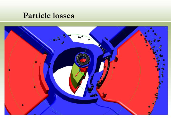 Particle losses