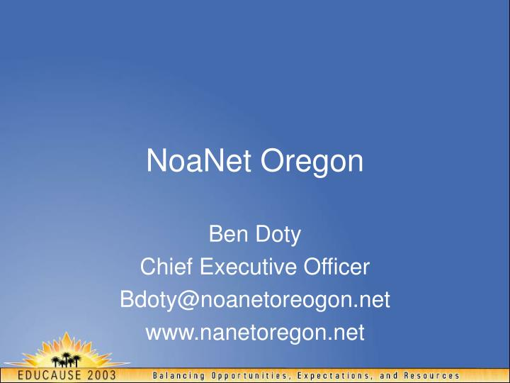 NoaNet Oregon