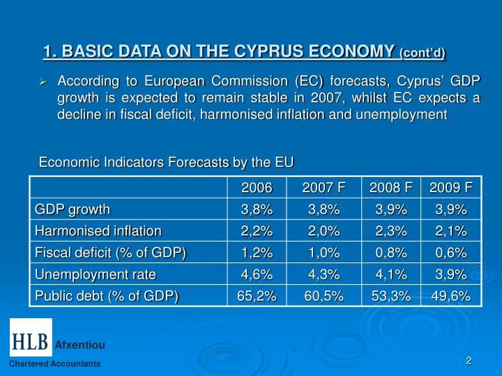 Economic Indicators Forecasts by the EU