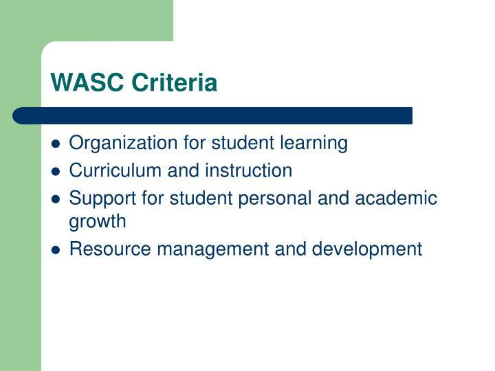 WASC Criteria