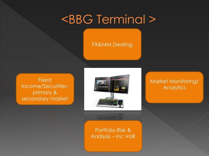 <BBG Terminal >