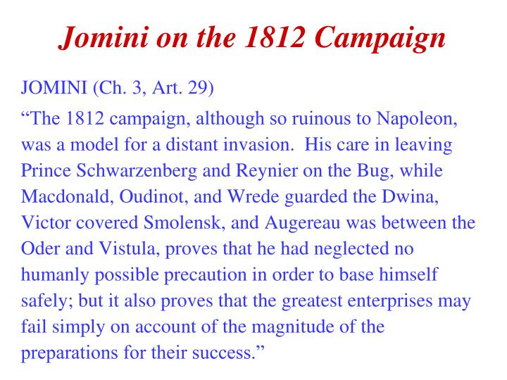 Account of the campaign of 1812