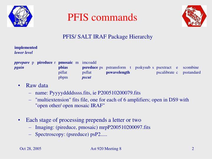 PFIS commands
