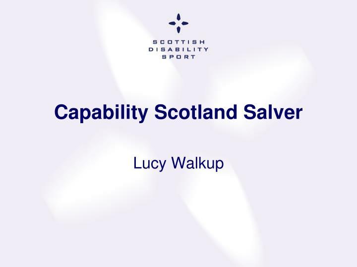 Capability Scotland Salver