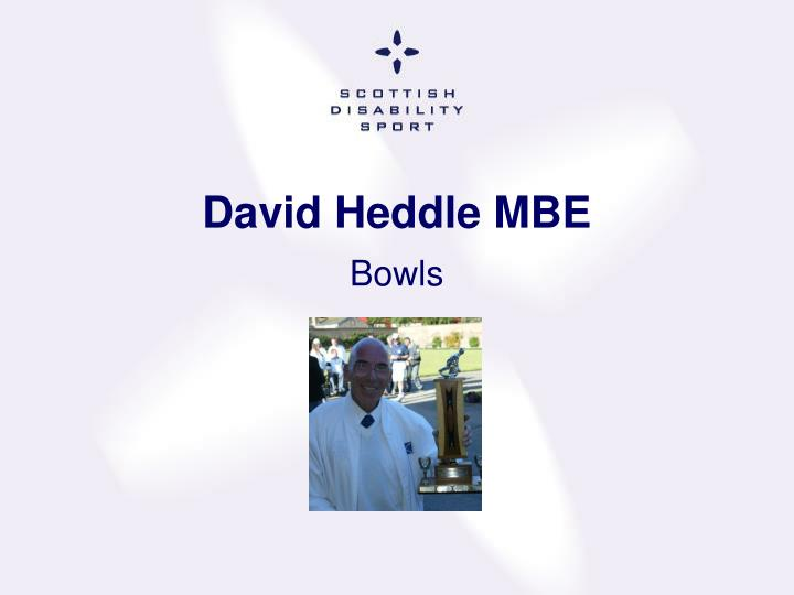 David Heddle MBE