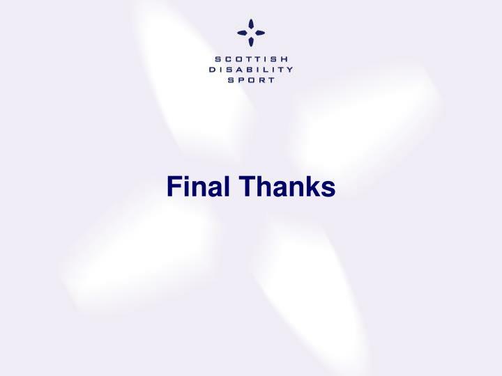 Final Thanks