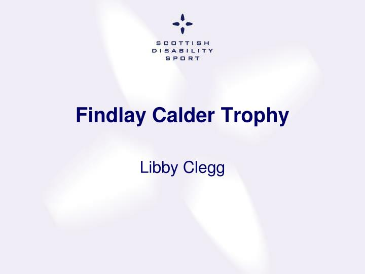 Findlay Calder Trophy