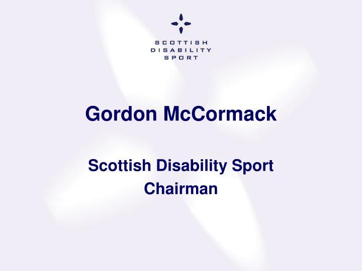 Gordon McCormack
