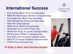 international success