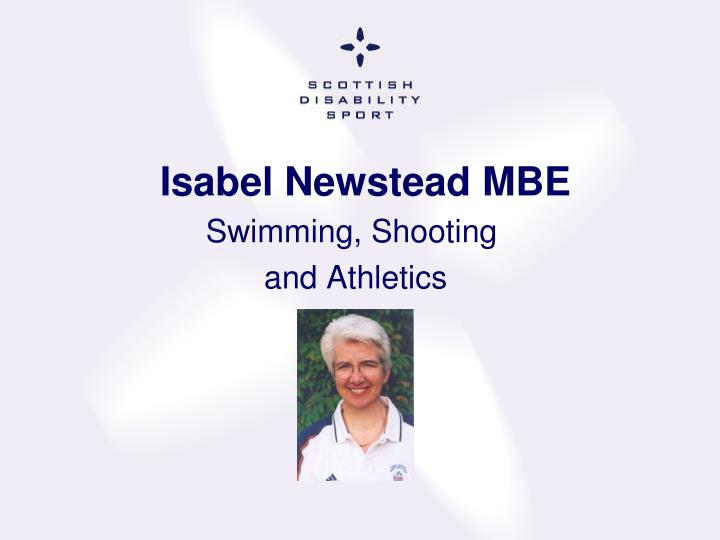 Isabel Newstead MBE