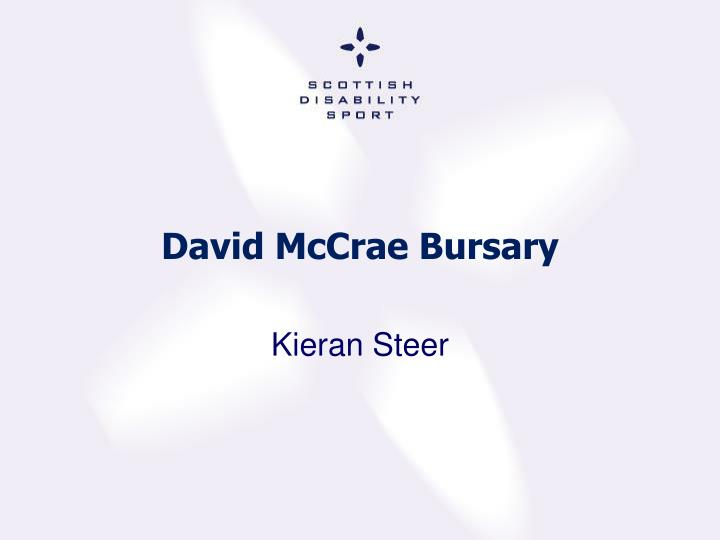 David McCrae Bursary