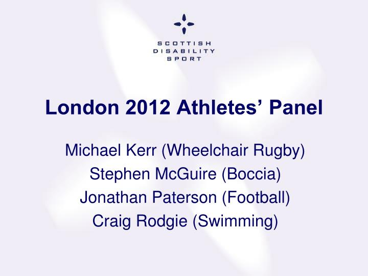 London 2012 Athletes' Panel