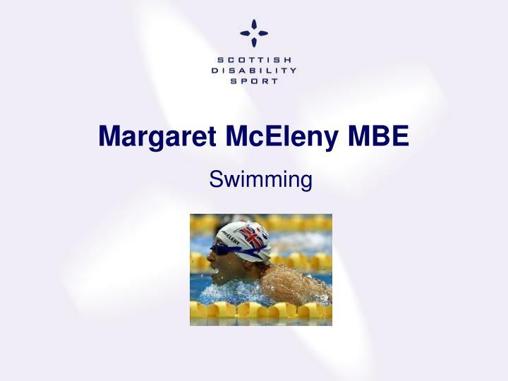 Margaret McEleny MBE