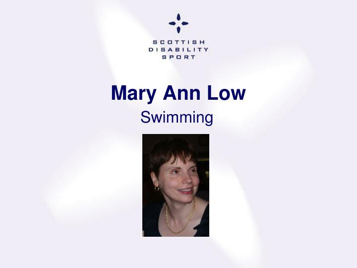 Mary Ann Low