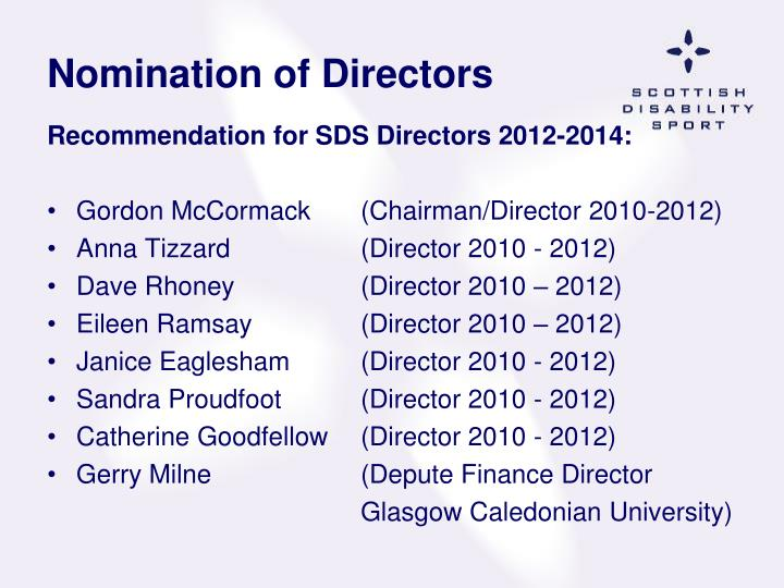 Nomination of Directors