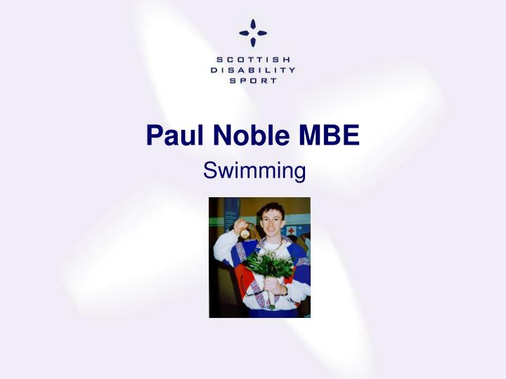Paul Noble MBE