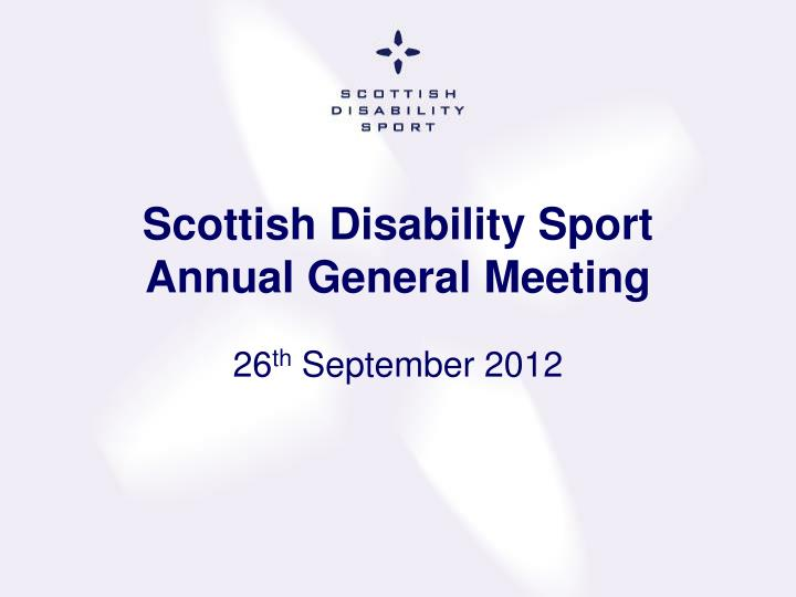Scottish disability sport annual general meeting