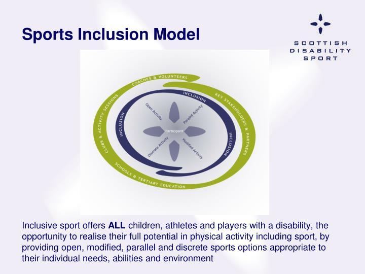 Sports Inclusion Model