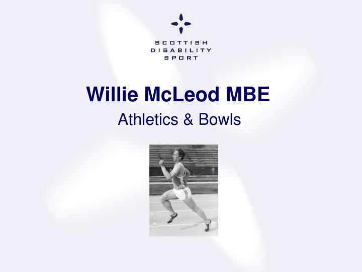 Willie McLeod MBE