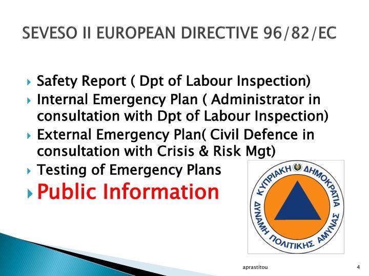 SEVESO II EUROPEAN DIRECTIVE