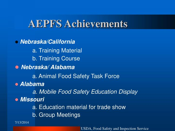 AEPFS Achievements
