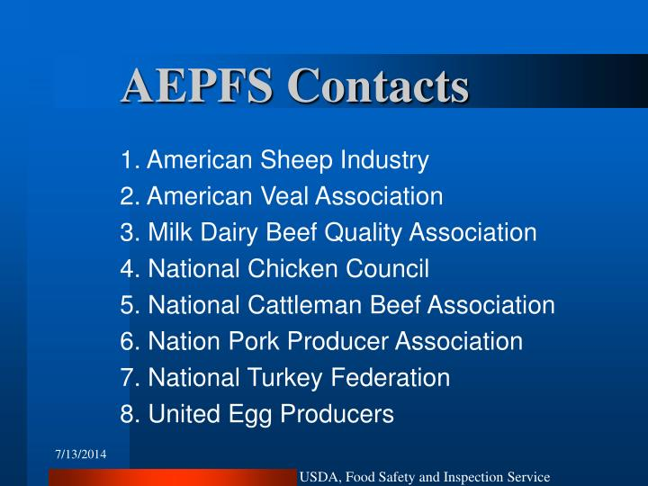 AEPFS Contacts