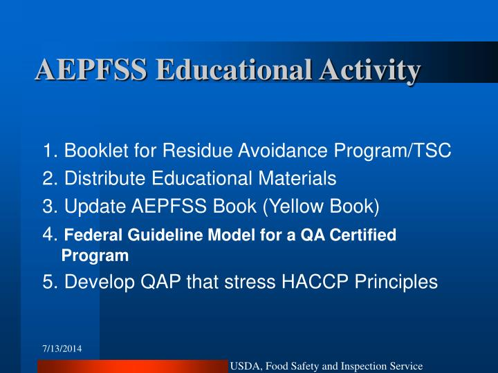AEPFSS Educational Activity