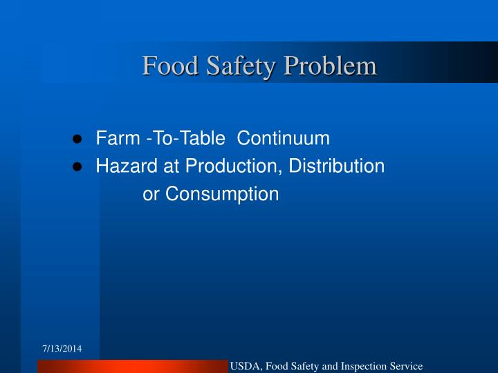 Food Safety Problem