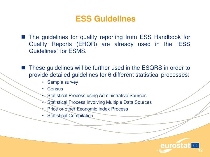 ESS Guidelines