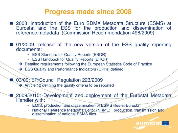 Progress made since 2008