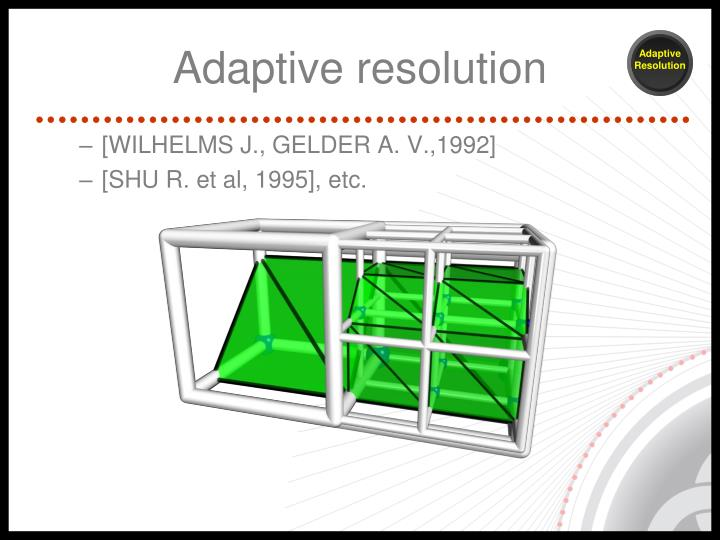 Adaptive resolution