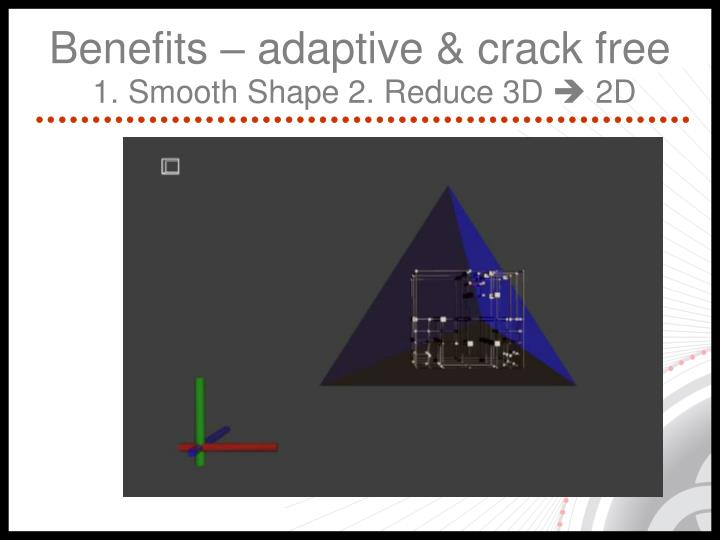 Benefits – adaptive & crack free