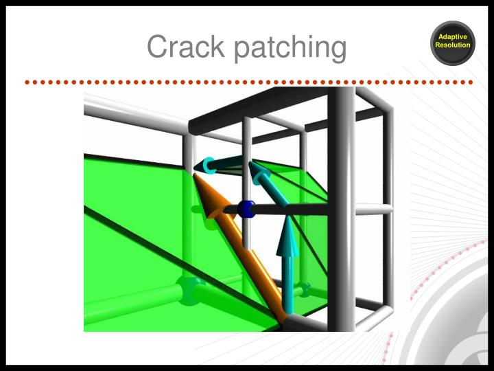 Crack patching