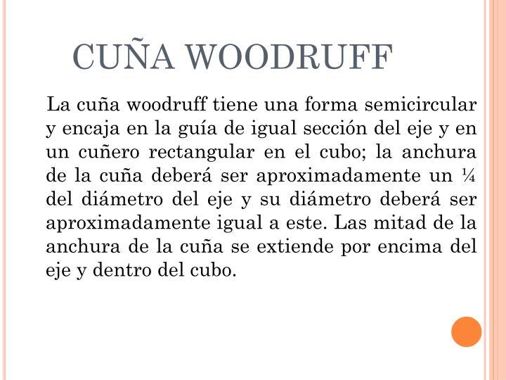 CUÑA WOODRUFF