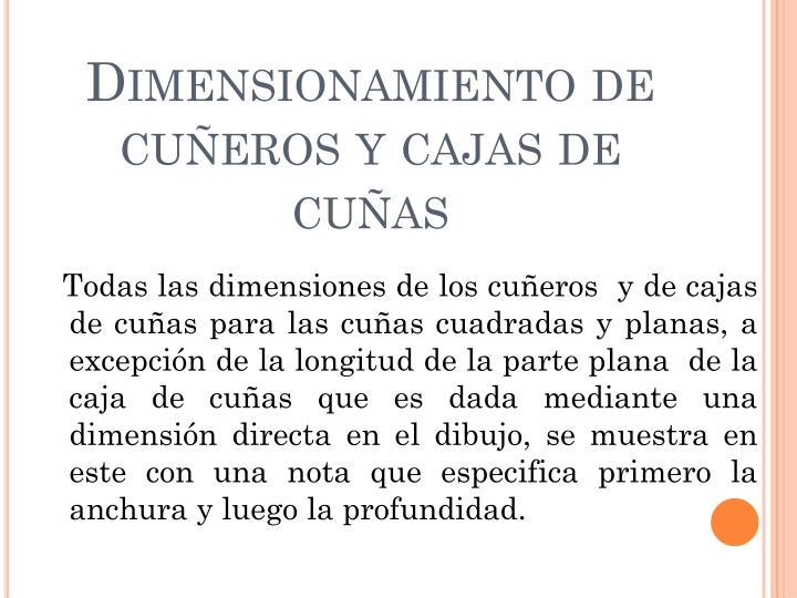 Dimensionamiento de