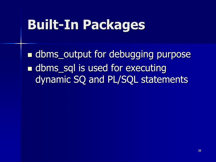 Built-In Packages