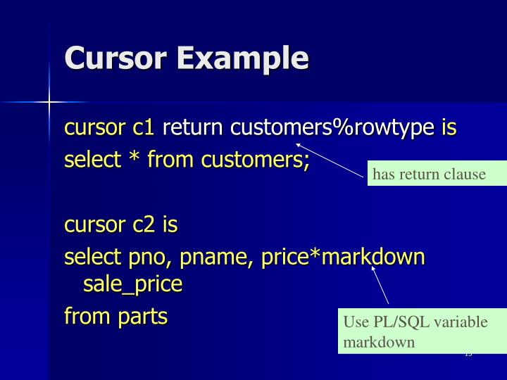 Cursor Example